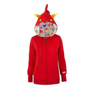 Homestuck Terezi Zip-Up Red Hoodie Sz Med NEW